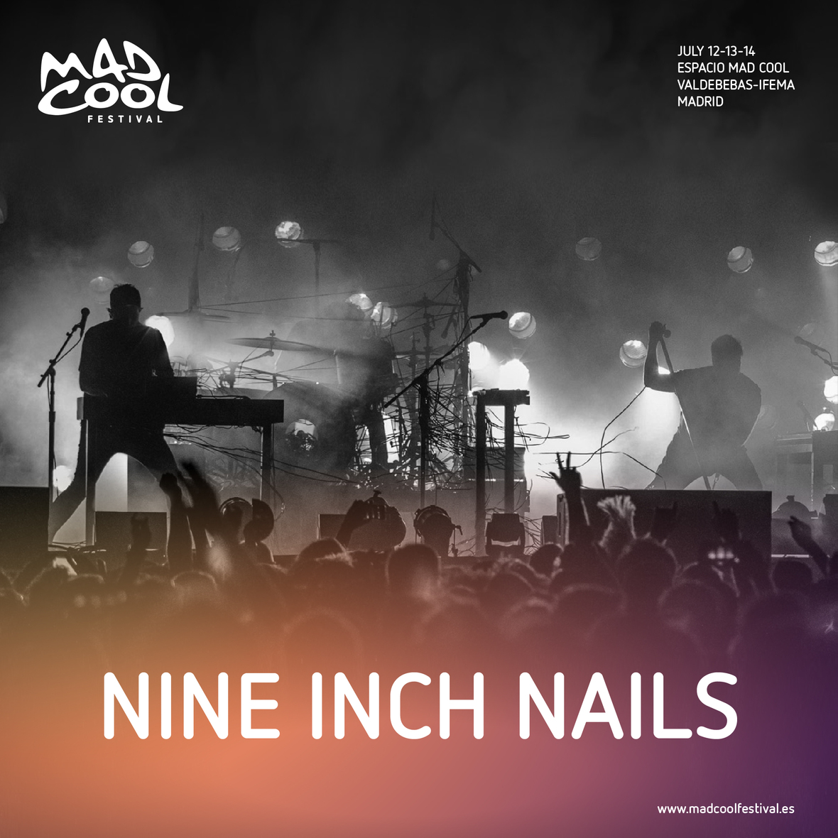 Mad Cool Festival 2018 Announce Nine Inch Nails - Flick Of The Finger