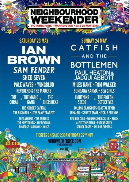 Neighbourhood Weekender 2020 Lineup Announced.