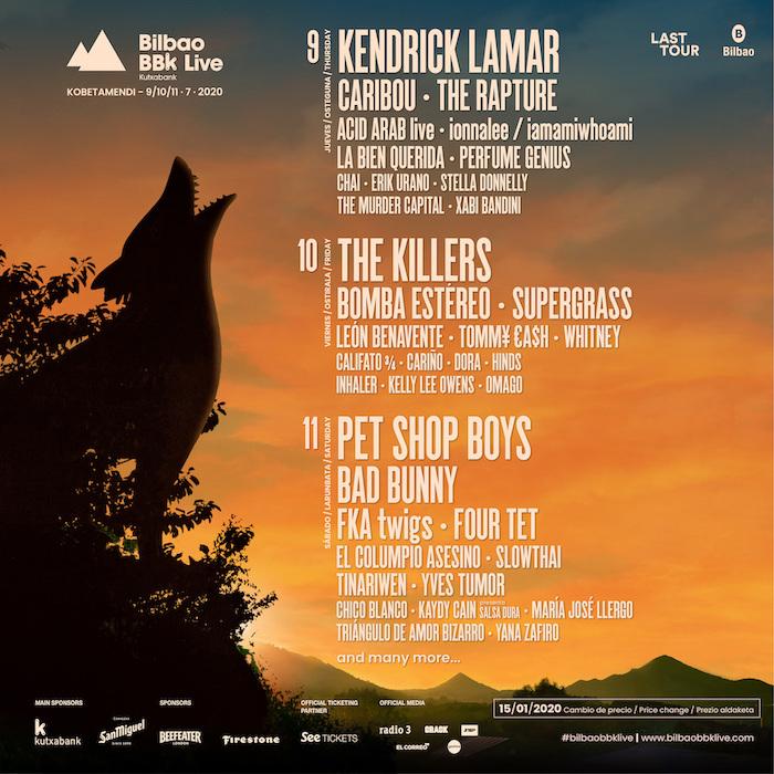 Bilbao BBK Live Lineup